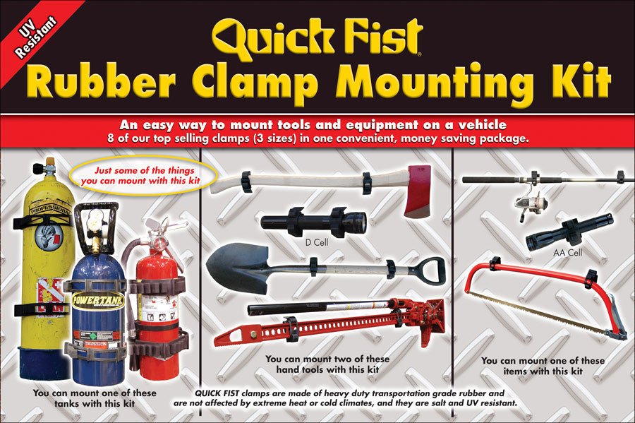 Quick Fist Rubber Clamp Mounting Kit 4x4 Campervan Boat