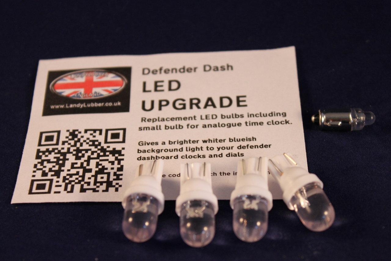 Defender Led Bulb Dashboard Lamp Clock Upgrade Pack Www