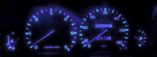Land Rover Discovery LED Instrument Panel Blue
