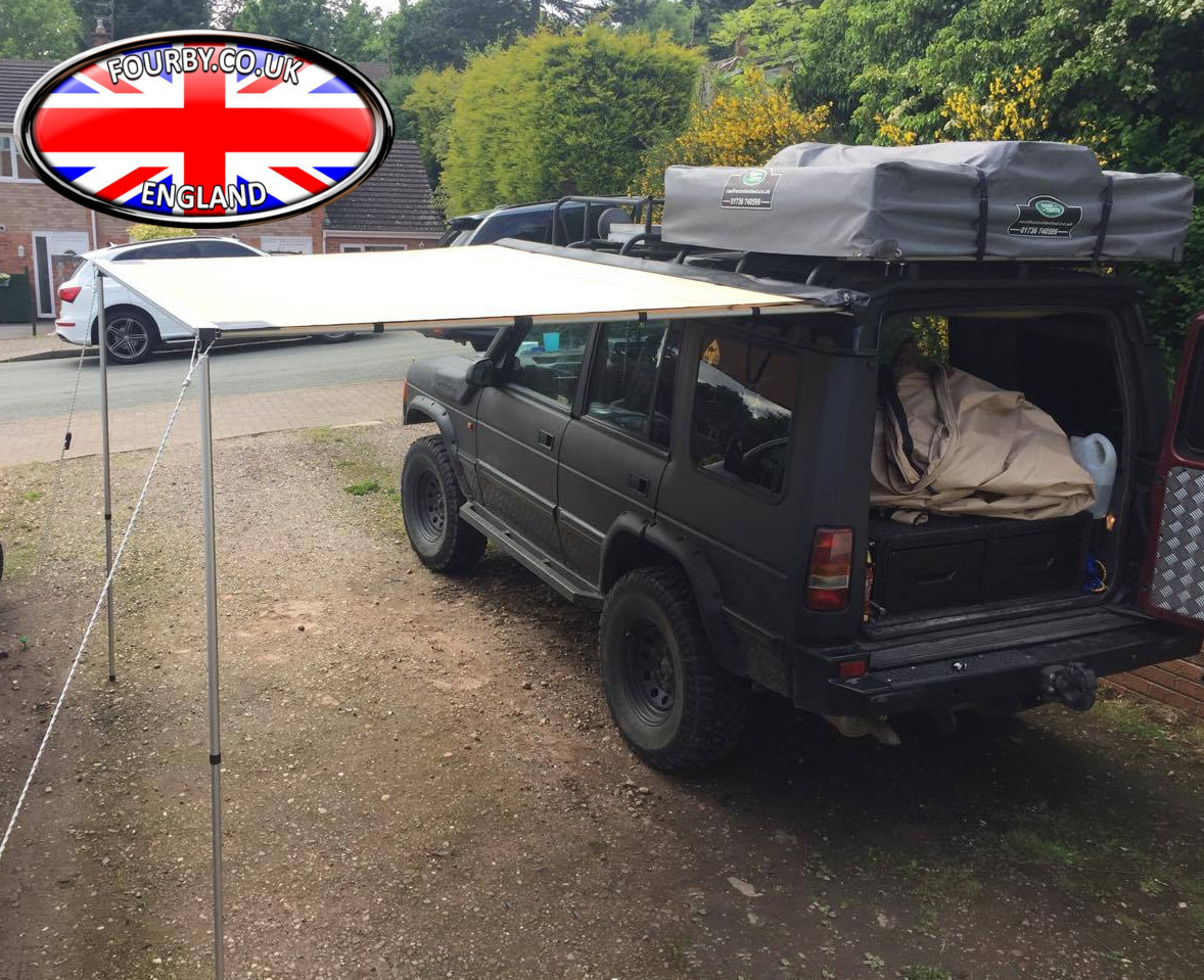 4x4 land rover side awning ground tent combo www fourby. Black Bedroom Furniture Sets. Home Design Ideas
