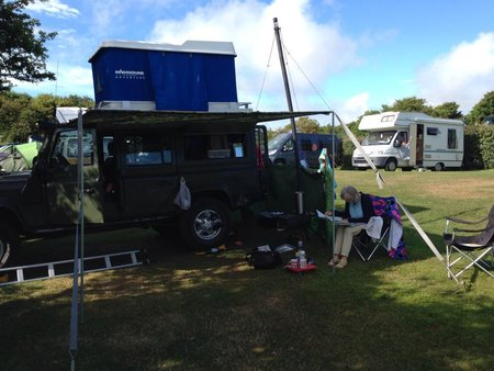 This is Tim Reynolds superb set up with a frontier stove. Look closeley to see the LandyLubber Side steps in action\\n\\n16/09/2014 09:04