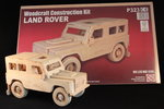 Wooden Construction 3D Model Land Rover