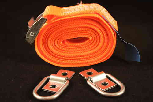 5m Cambuckle Tie Down Strap with 2 x D Rings