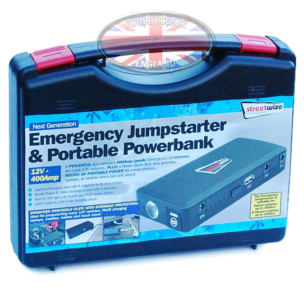 Streetwize Portable Jump Starter And Powerbank Www Fourby Co Uk