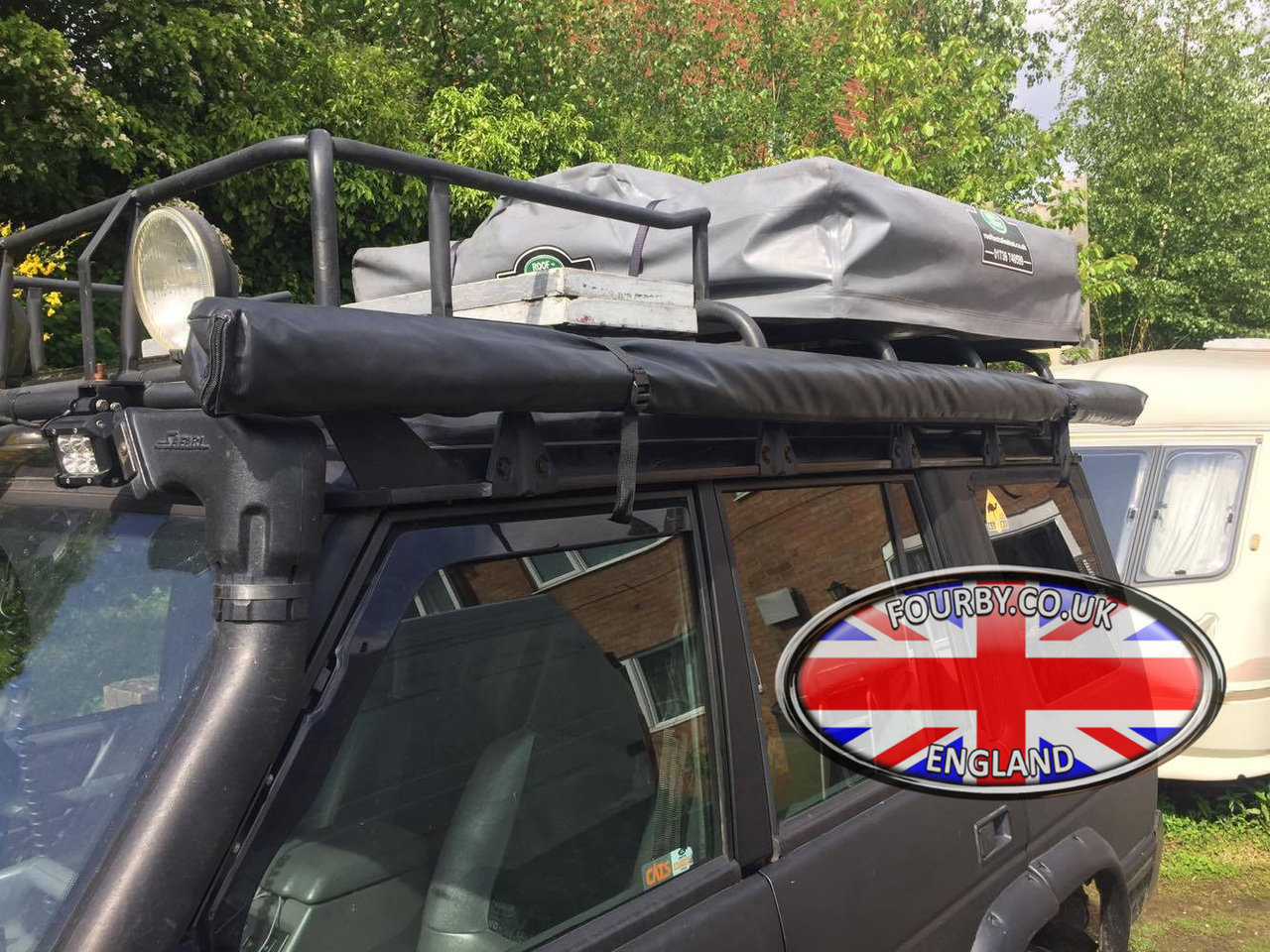 4x4 Land Rover Side Awning Ground Tent Combo - www.Fourby ...