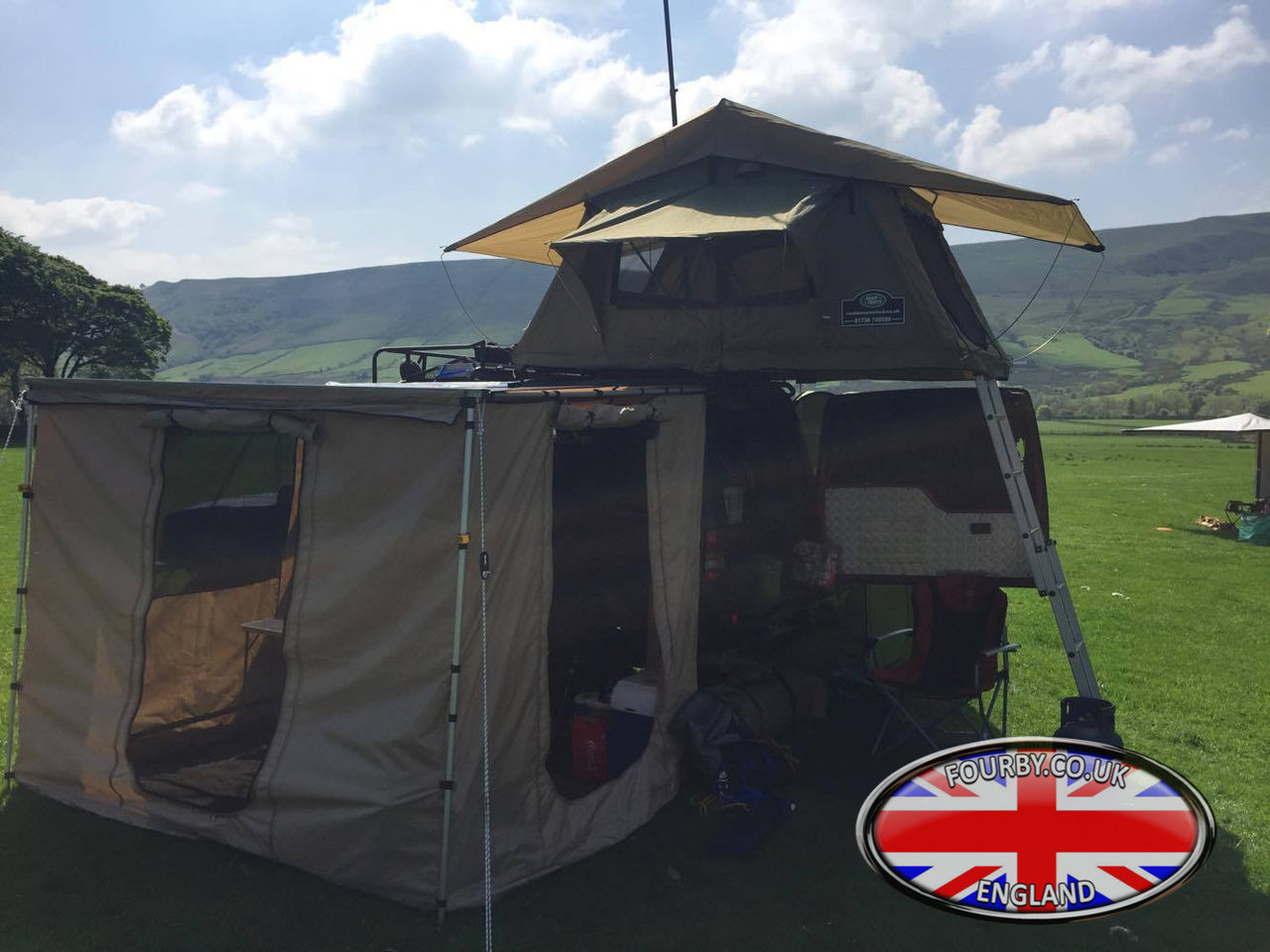 4x4 Land Rover Side Awning Ground Tent Combo Www Fourby