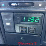 Land Rover Discovery 2 Multi-function USB Clock Kit - RED LED